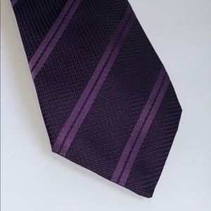 Thomas Pink tie London France purple stripe silk